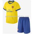 Elegante amarelo / azul uniformes de futebol personalizado