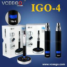 Top quality e cigaretes iGo4 battery with blue LCD display,LCD li battery