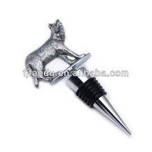 Wolf shape bottle stopper blanks,silver bottle stopper