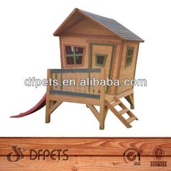 Wooden Cubby House W/ Slide DFP018L