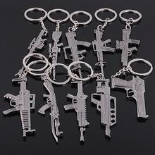 Yueya Cross Fire Gun Keychain alloy metal keychain imitation guns rob game props Keychain