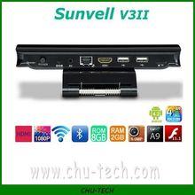 Sunvell V3II RK3188 Quad Core 1.8GHz Adnroid 4.2 TV Box 2GB/8GB Built in 5.0MP Camera RJ45 Bluetooth