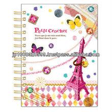 A6 sticker book petit crochet _ eiffel tower _ paper craft _ handmade