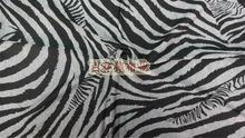 zebra stripe printed N/R ponte de roma fabric 280gsm discharge printing