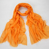 winter orange color lady wool shawl