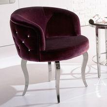 púrpura ronda sillas pequeñas
