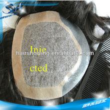 Super natural injected men hair piece