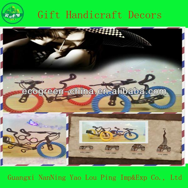 artesanato em miniatura modelo de bicicletas
