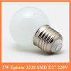 Ceramic 3W E14 5w e27base led light bulb