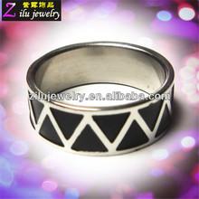 316L custom stainless steel lucky stone finger ring