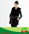 cálido 2014 personalizado de moda delgado piel de conejo rex abrigo de invierno para las mujeres