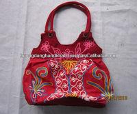 Flashy women handbag, embroidery handbag, best-looking handbag