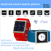2013 fashion design watch phone with Android 4.0 3G