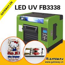 Gateway A2 Digital Flatbed printer phone cases/pen /pvc,acrylic,leather, wood uv printer(28*59cm)