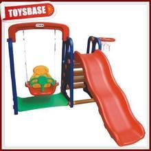 plastic garden slide and swing
