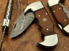 Hand Made Damascus Folding Knife
