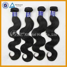 XBL machine made peruvian hair extension hand tied weft