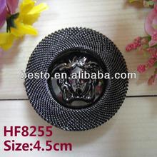 HF8255 Popular decorative portrait center bronze round metal buckle for shoe