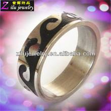 316L custom stainless steel stone men ring