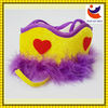 factory sale miscellaneous fleece material golden color dog hat for dog birthday