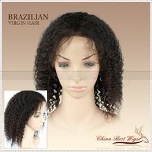Highest quality brazilian virgin hair short lace front wig for black women