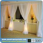 elegant white sheer drapery wall backdrop sheer drapery for event/party