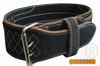 Weight Lifting Belt in Black Drum Dyed color heavy duty and durable