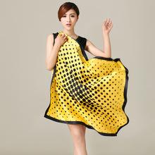 Mulberry Silk Crepe Satin Plain Silk Round Uniforms Square Scarf/Kerchief