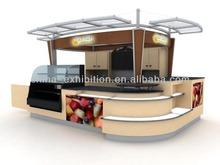 wooden inflatable kiosk