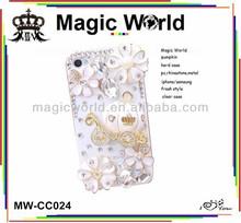 crystal bling christmas gift rhinestone mobile phone cover for blackberry