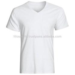 custom made v neck t-shirt/ oem t shirts / customized tee