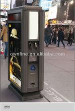 decorative galvanized steel advertising trash bin