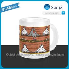 SH818 Kids Hen House glass milk cup mug promotional glass milk Mug tumbler steins