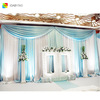 IDA wedding rattan curtain rod finials decoration with high quality and for best-selling