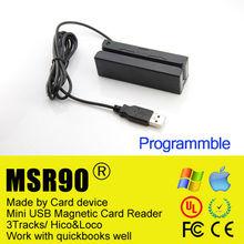 Magnetic stripe reader MSR with USB MSR90