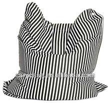 black strip large bean bag cushion , big ottoman, fashion print beanbag cubes