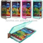 TPU Gel Flip Case Cover Built in Screen For Samsung Galaxy Note III 3 N9000