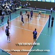 Portable athletic pvc volleyball flooring in stock