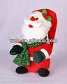 animados cantando y bailando de peluche de felpa de juguete de navidad romper bailarín de santa claus