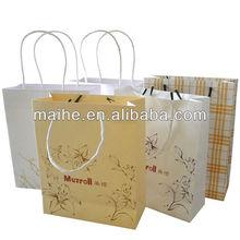 export paper bags,animal printed paper bag,paper bags with pp rope