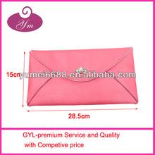 2014 NEW fashional hot sale dark red wristlet cosmetic bag