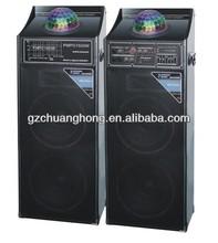 Guangzhou Profesional active stage speaker dj equipment audio speaker with disco flashing light