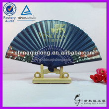 Custom Bamboo Hand Fan with Handle