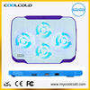 Coolcold usb hub cooling fan with led light 10inch metal mesh laptop cooler pad