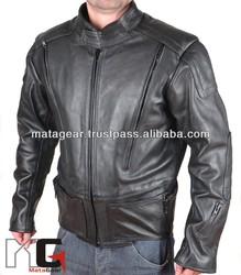 Pilot Style Motorcycle Leather Jacket