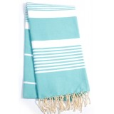 Aqua Blue stripes Fouta Towel