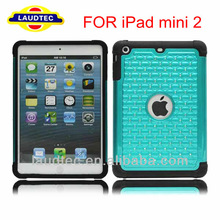 Case for iPad mini 2 ii, Chrome 2 in 1 Bling Diamond Hard Case for Apple iPad mini ii 2