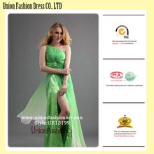 Wonderful Gradient Apple Green Floor-length design your own prom dress online