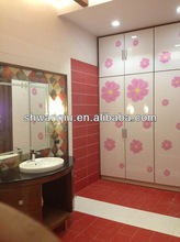 High glossy UV mdf board flower paint for interior decoration and sliding door
