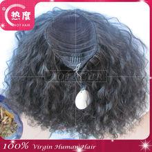 5A grade virgin weaving 100% human hair afro kinky hair ponytail hair
